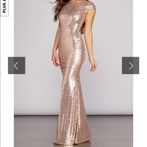 Windsor Sivan Glam Sequin Maxi Dress